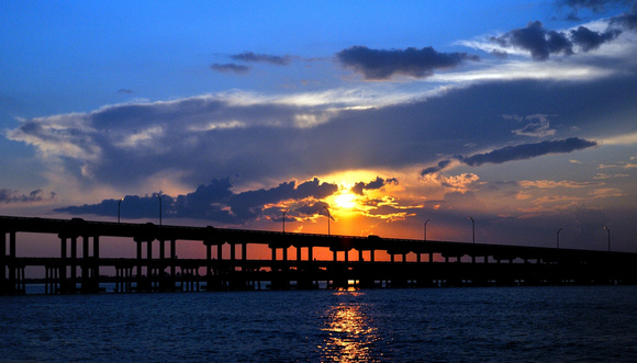 Sunset over Pensacola Bay