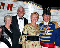 Pensacola Mayor Mike Wiggins and MS Andrew Jackson (Barry Hoffman) from Springtime Tallahassee pose with their lovely ladies.
